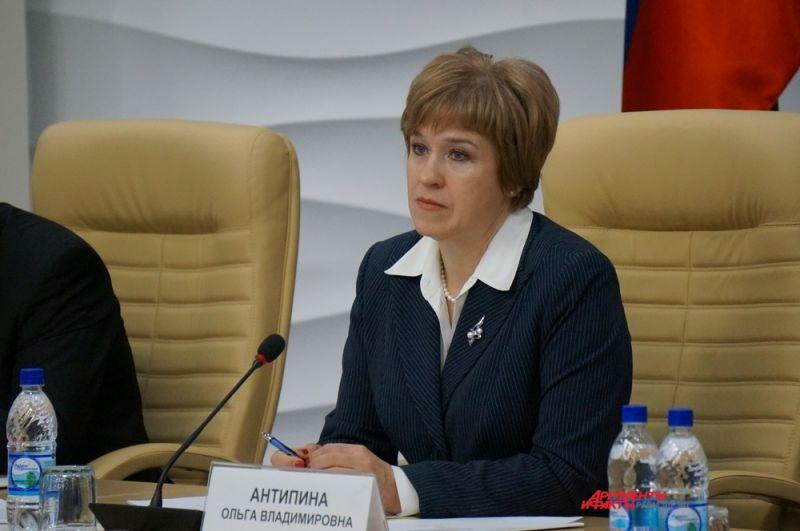 Ольга Антипина сохранила пост первого заместителя председателя Правительства Прикамья.