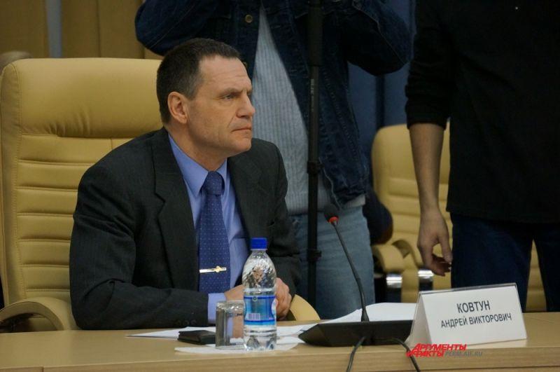 Андрей Ковтун – министр территориальной безопасности Пермского края.