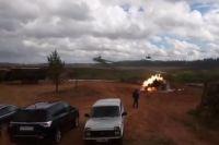 Боевой вертолет на учениях «Запад-2017» обстрелял зрителей