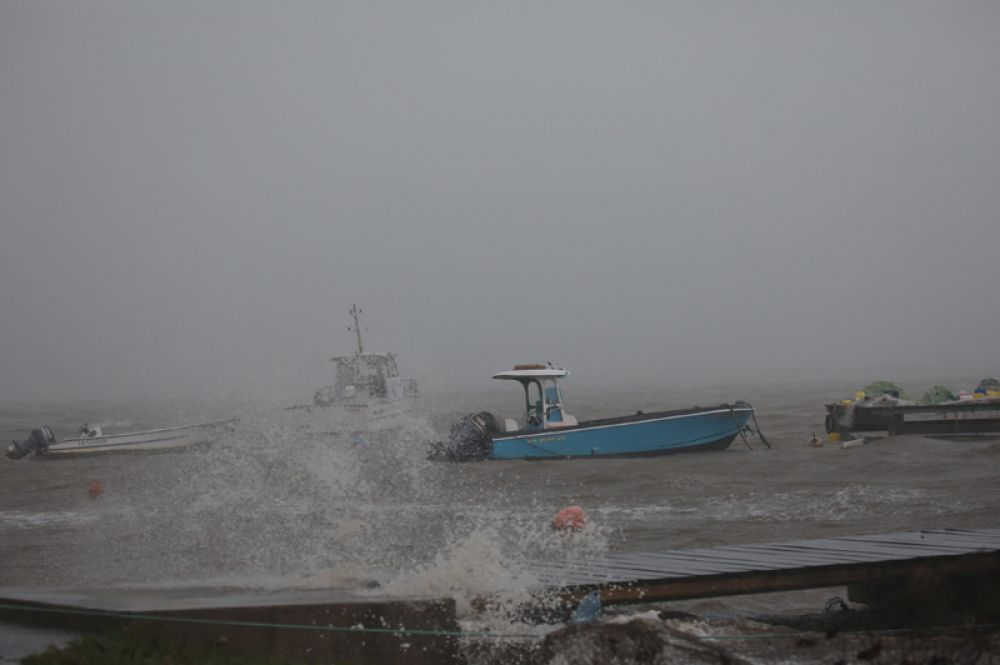 Ураган «Мария» подходит к острову Гваделупа.