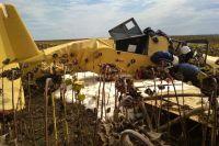 В Хмельницкой области во время работы в поле упал самолет