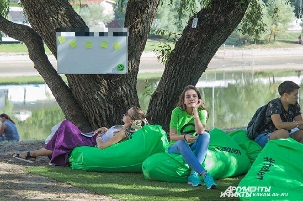 Фестиваль технологий и достижений науки проходил в живописном месте, на берегу Кубани.