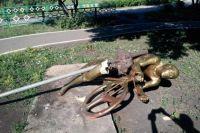 В Дёме жертвой вандалов становилась фигура велосипедиста