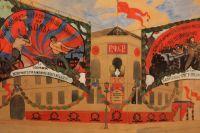 Эскиз оформления Владимирской площади, Ян Рудницкий