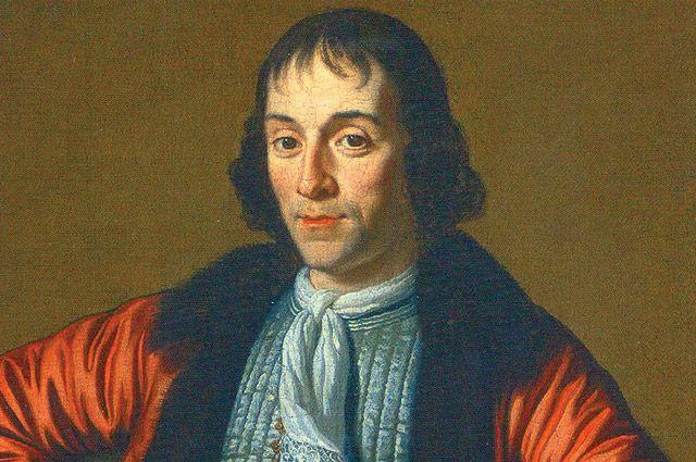 Александр Меншиков. Портрет кисти М. ван Мюссхера, написанный в Голландии во время Великого посольства (1698).