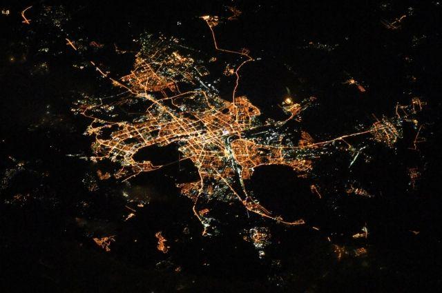 Из космоса Челябинск выглядит красиво.