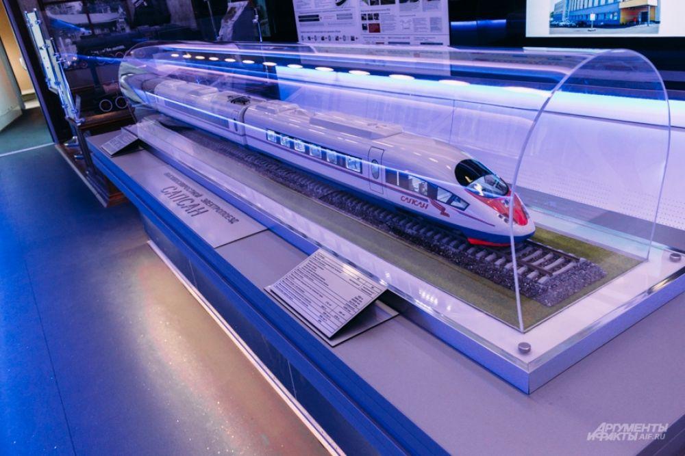 «Сапсан» - высокоскоростной поезд, используется с 2009 года. Развивает скорость 240 километров в час.