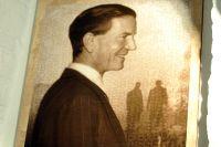 Фото с открытия выставки, посвященной советскому разведчику Киму Филби, в доме Российского исторического общества.