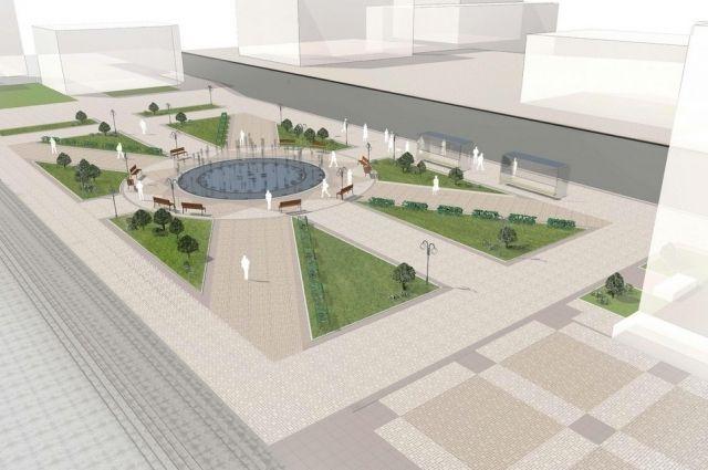 Владимирцам предлагают оценить проект благоустройства Театральной площади
