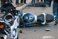 Пассажирка мотоцикла погибла на месте, водитель чуть позже в больнице.