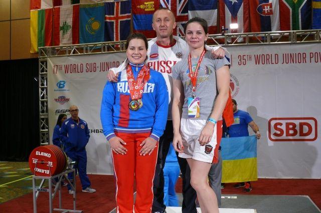 Победительницы первенства Мира среди девушек Ломацкая Дарья, среди юниорок Борисова Елена.