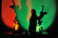 Незрячие артисты создают при помощи своих теней проникновенную историю.