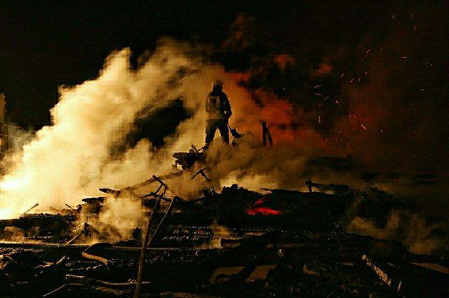Склад сена сгорел вНижегородской области