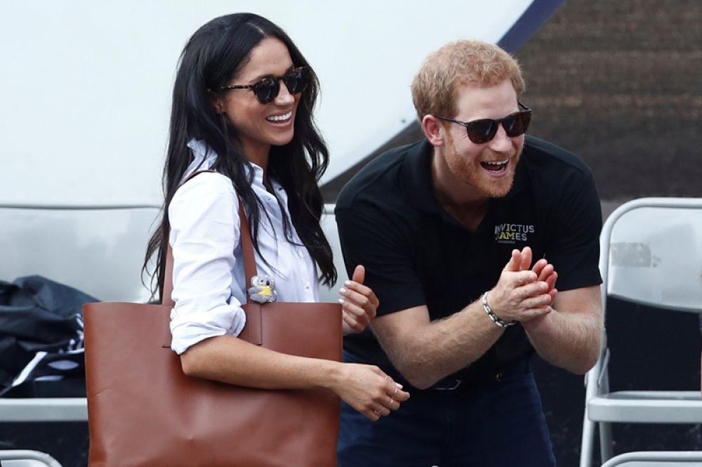 На соревнованиях принц Гарри впервые появился на публике со своей девушкой, американской актрисой Меган Маркл.