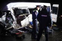 Место аварии через несколько часов после ДТП.