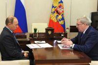 Должность губернатора Красноярского края освободилась.
