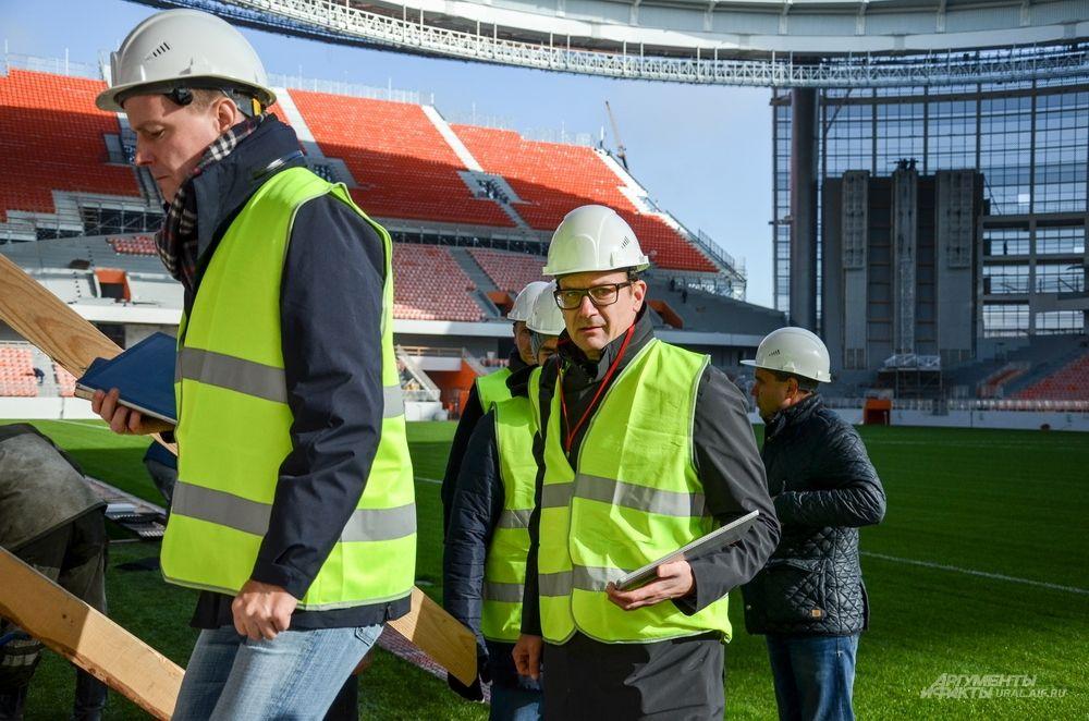 Больших нареканий при осмотре стадиона у делегатов не возникло.