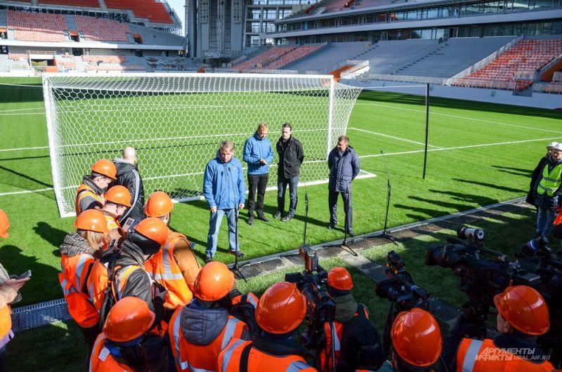 Следующая проверка стадиона будет проведена во время одного из тренировочных матчей весной 2018 года.