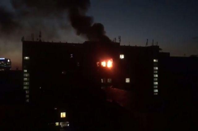 Наместе пожара в университете пищевых технологий вКиеве отыскали тело