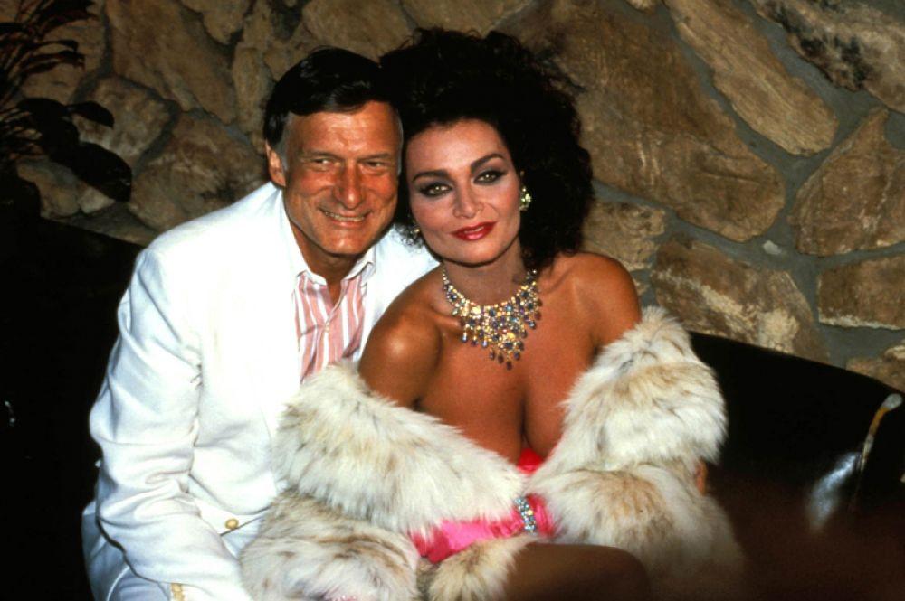 Хью Хефнер и Керри Ли, 1986 год.