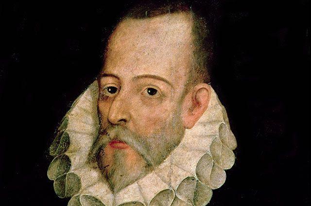 Портрет Мигеля де Сервантеса. Художник Хуан де Хауреги.