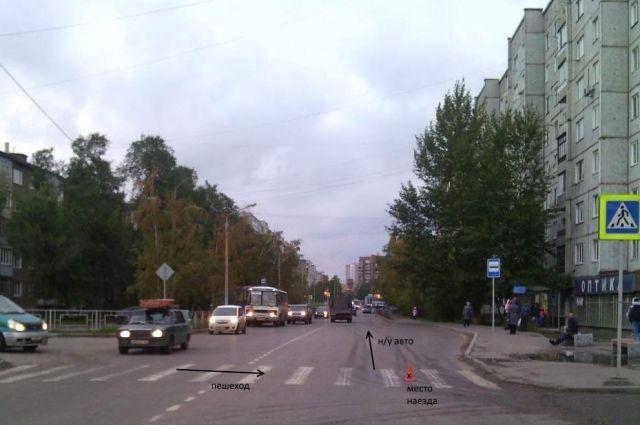ВКрасноярске ищут водителя, проехавшего поноге школьницы