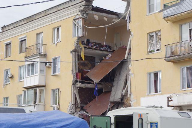 Пострадавший отвзрыва дом вВолгограде практически снесли