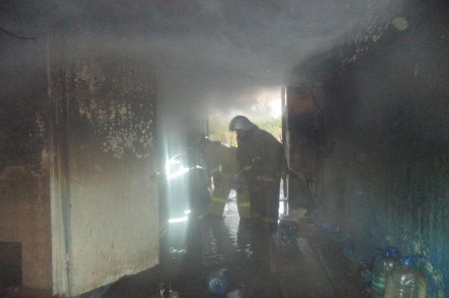 ВТульской области впожаре пострадал человек