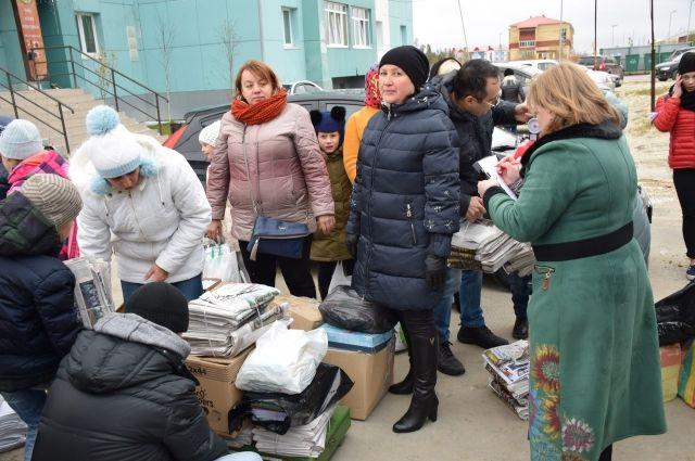 В Губкинском во время акции собрали пять тонн макулатуры