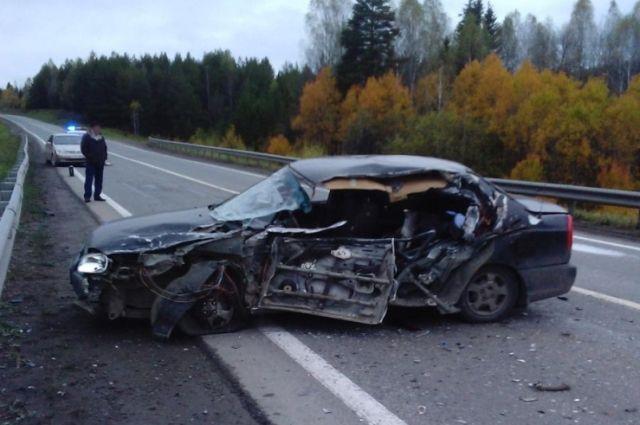 ВПермском крае автомобиль Hyundai на«встречке» врезался вГАЗель
