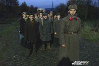 На массовку прибыла сводная рота Пермского филиала Волжского госуниверситета водного транспорта.
