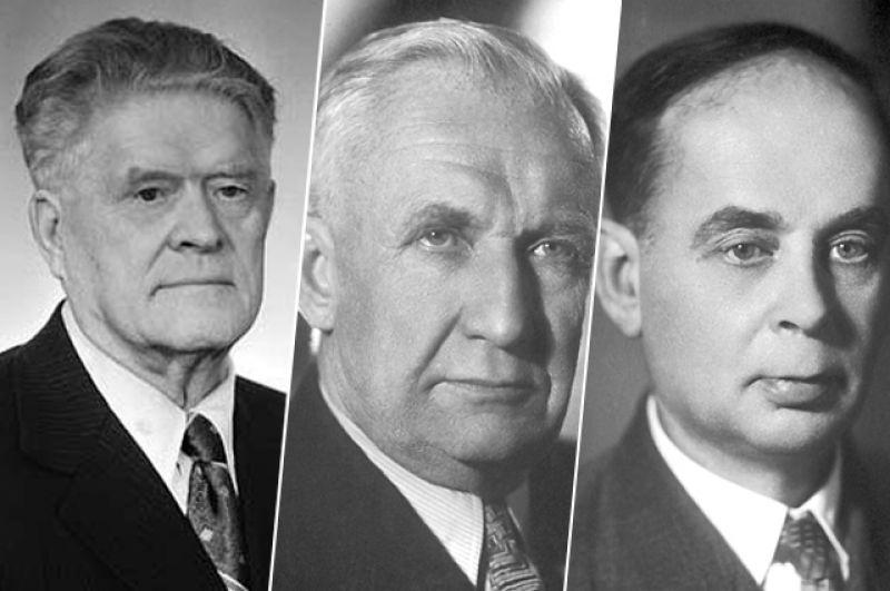 1958 год, Павел Алексеевич Черенков, Игорь Евгеньевич Тамм и Илья Михайлович Франк. Нобелевская премия по физике «за открытие и истолкование эффекта Черенкова».