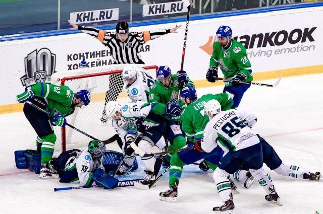 «Югра» одержала победу над «Салаватом Юлаевым» побуллитам ввыездном матче КХЛ