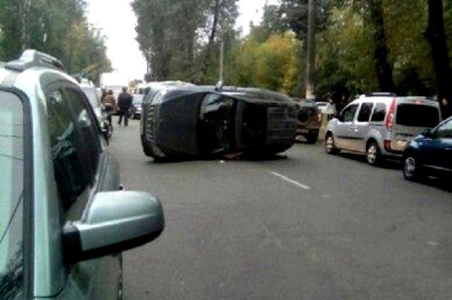 Виновником аварии в центре Тюмени стал пьяный водитель
