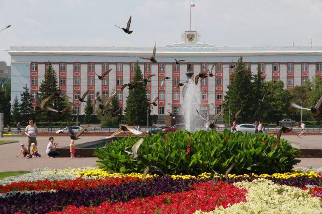 Здание правительства Алтайского края.