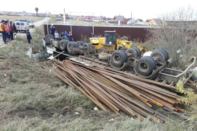 В ДТП погиб водитель большегруза.