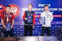 Антон Елькин (крайний слева) неожиданно занял высокое третье место.