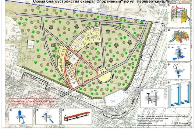 Доконца года налевом берегу Воронежа благоустроят «Спортивный» сквер