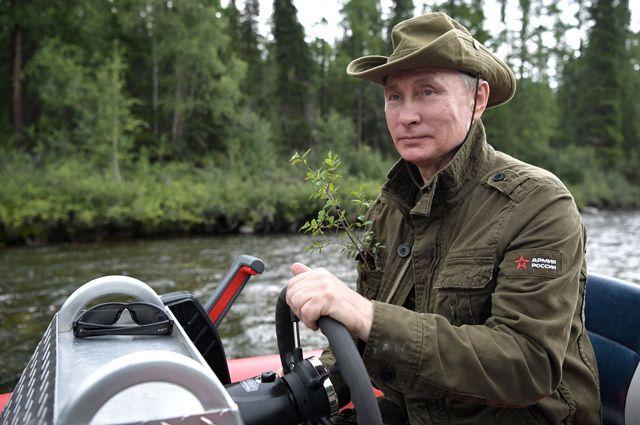 Владимир Путин в Республике Тыва.