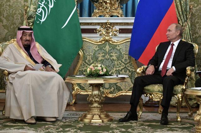 Путин начал встречу скоролем Саудовской Аравии