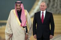 Президент РФ Владимир Путин и король Саудовской Аравии Сальман Бен Абдель Азиз Аль Сауд.