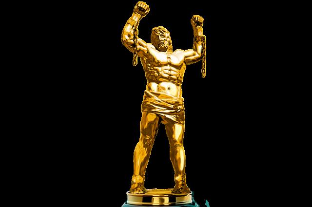 Так выглядит статуэтка - символ конкурса «Золотой Прометей», которую будут вручать лучшим представителям туротрасли.