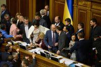 На заседании Верховной рады Украины.