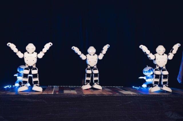 На выставке можно увидеть танцующих роботов.
