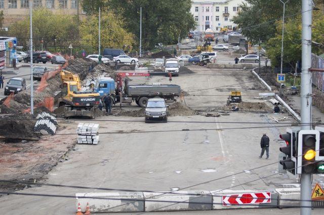 Ремонт дорог в центре Красноярска продолжается.