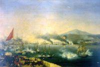 Морская битва при Наварине. Луис Гарнерай. (1827)