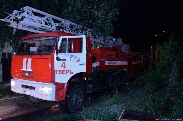 Напожаре вТверской области умер мужчина