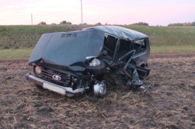 ДТП натрассе: шофёр «Нивы» скончался вскорой