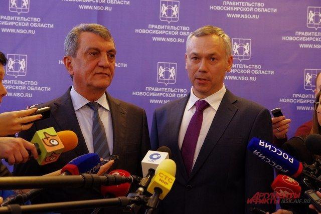 Полпред Сергей Меняйло представил врио губернатора Новосибирской области