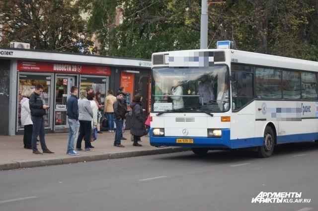 В Калининградской области полиция проверяет общественый транспорт.